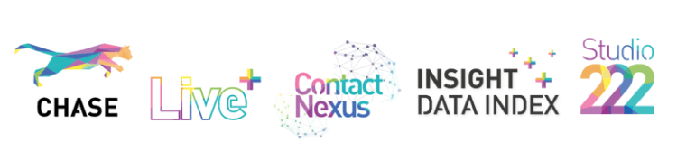 Our highly specialised five business teams are here to help. CHASE, LIVE, Contact Nexus, Insight Data Index & Studio 222.